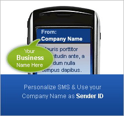 Send SMS with company Name